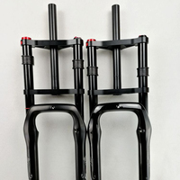 "Double shoulder fat bike fork fat bicycle bicycle 26"" 4.0"" air forkes Snow MTB Moutain 26inch Bike Fork 135mm magnesium alloy"