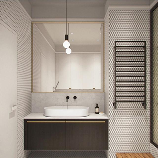 골동품 디자인 골드와 로즈 골드 욕실 세면대 거울