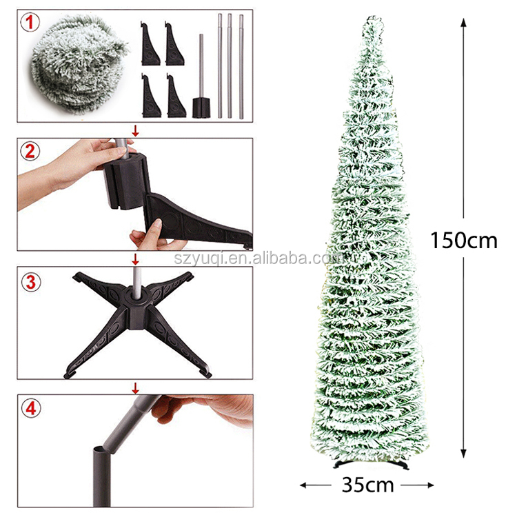 5 Feet Perfect  Flocked Snow Holiday Christmas Tree