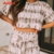 2021 Polyester Two Piece Set Women Summer Shorts Sleeve Sets Sleepwear Onsies Pajamas For Woman