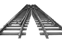 steel rail turnout for railway