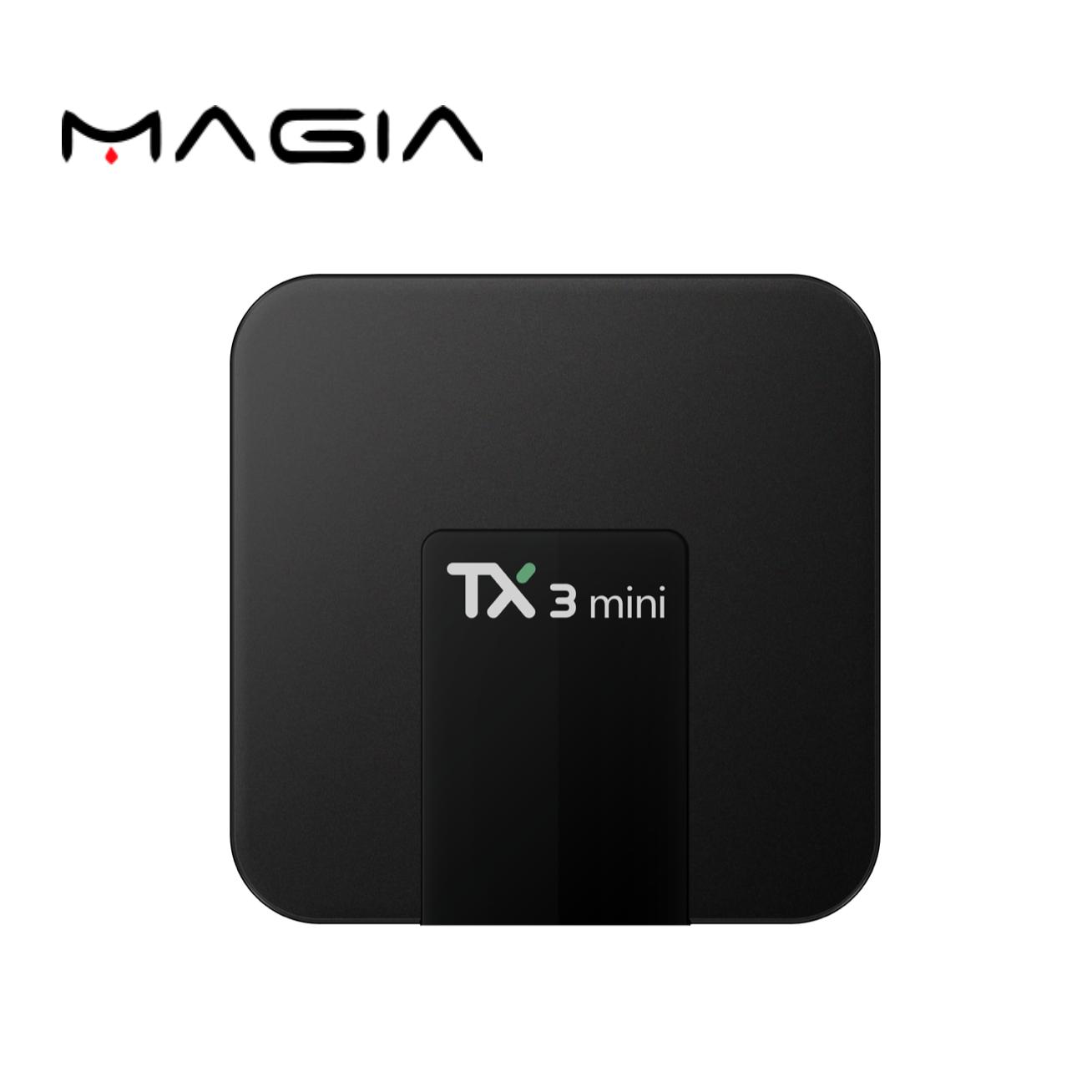 صندوق أندرويد رباعية النواة TX3 مصغرة ، 4k مربع التلفزيون الذكية 2g16g 1g8g الروبوت 8.1 أوس دعم netflix يوتيوب ألعاب أجهزة iptv مجموعة top box