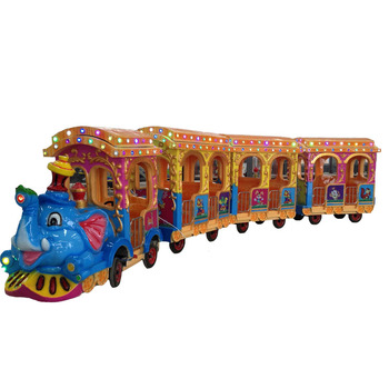 Used electric outdoor trackless train rides carriages for sale