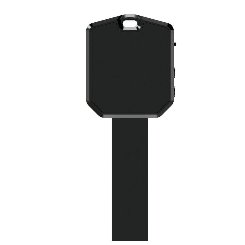 Porte-clés V7 noir portable, avec trou de lanière, enregistrement, Mini clé, enregistreur Audio, lecteur MP3, voix numérique