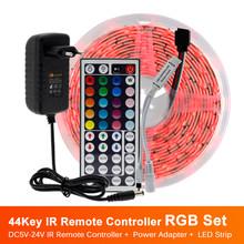 Светодиодная лента 5050 RGB / RGBW / RGBWW 5 м 10 м RGB цвет сменный гибкий светодиодный светильник лента + пульт дистанционного управления + адаптер пита...(Китай)