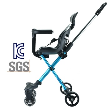 Pass KC test good quality lightweight 4 big wheel folding smart luxury baby trike