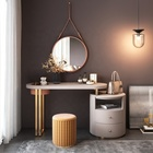 Modern Hotel Home Bedroom Furniture Dresser Makeup Table With Mirror And Stool
