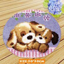 Diy набор крючков с защелкой для животных серия рукоделие коврик подушка с пуговицей животные Klink Haak Kussen Bloem диванные подушки Knooppakket(Китай)