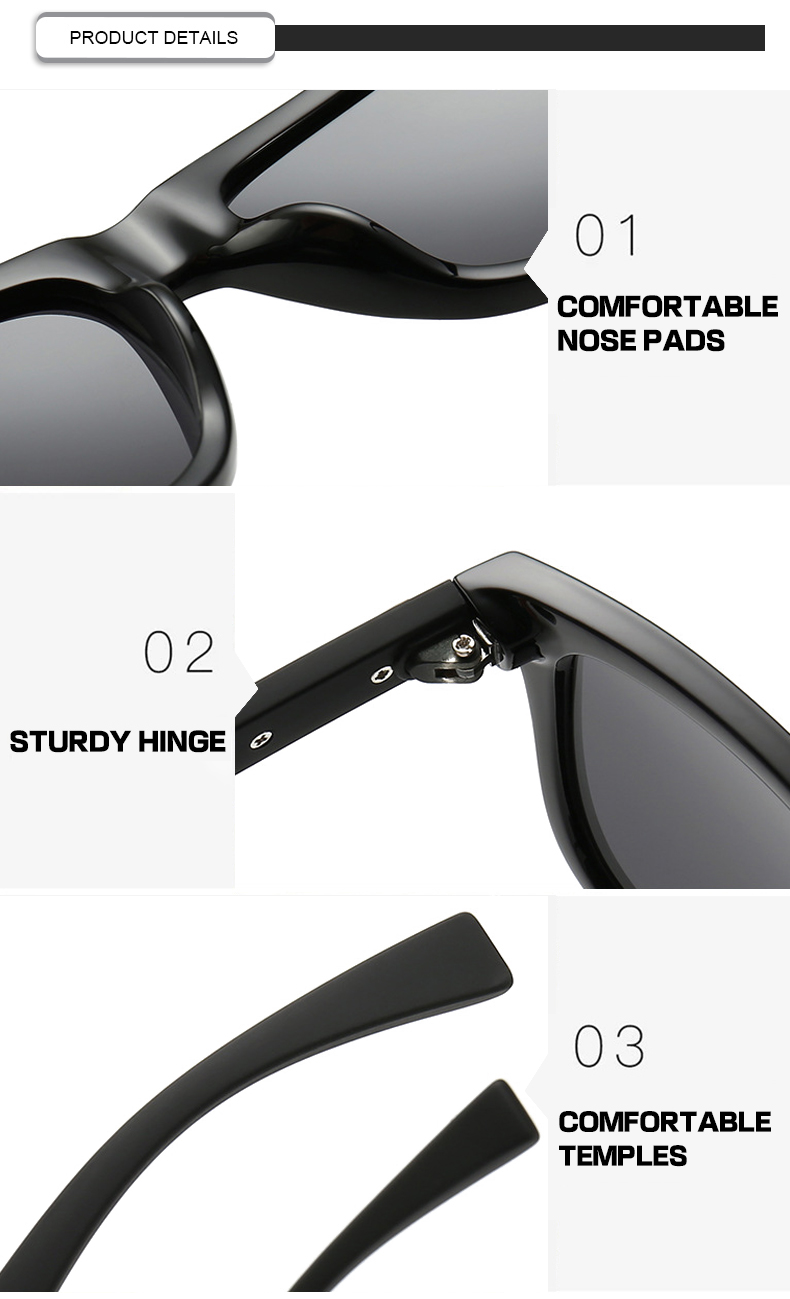 Fuqian men's polarized mirrored sunglasses fashion design for men-7