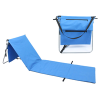 New small backpack stadium seat with back, folding furniture picnic beach mat folding chair for prayer sillas plegables playa