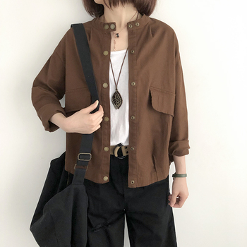 Newest spring fashion casual coat,   Korean style women autumn loose jackets