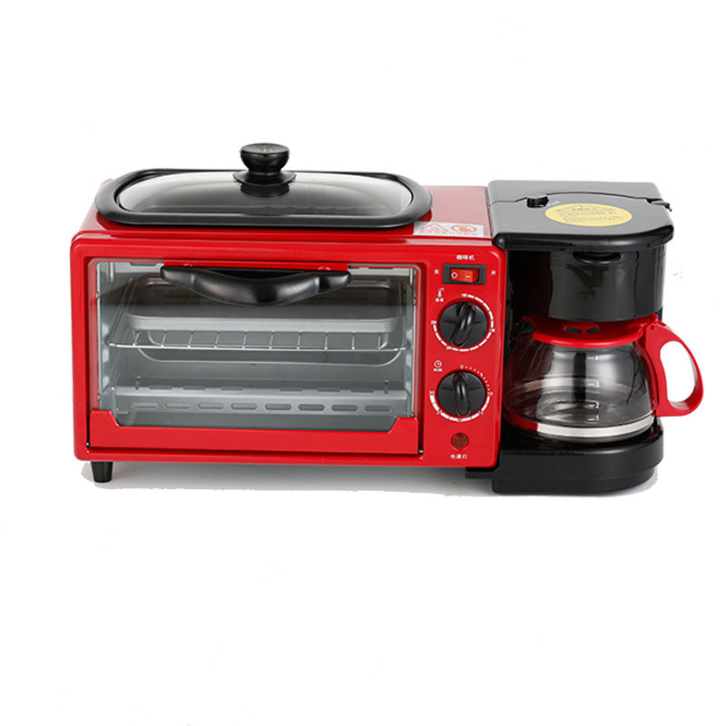 Home multi-functional three in one breakfast machine mini electric oven coffee omelette bread machine toaster