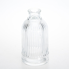 Unique design beautiful home decorative Small glass flower vase cheap clear glass crystal vases