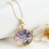 Handmade Real Dried Flower Pendant Pressed Flower Necklace For Women Gifts