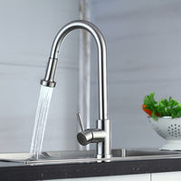 MEIYA Commercia Pull down Stainless Steel Kitchen Faucet