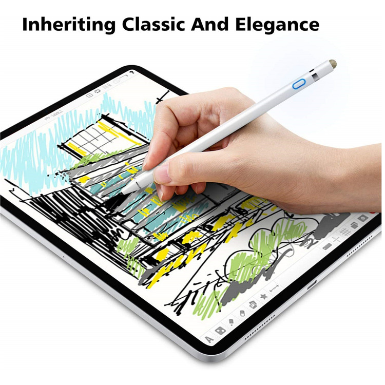 MoKo 2 in 1 Rechargeable Fine Point Tip Capacitive Digital Pencil Active Stylus Pen with Case for ipad