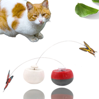 2020 Amazon Butterfly Cat Scratch Shake Rotate Catch Training Plastic Electronic Cat Toy