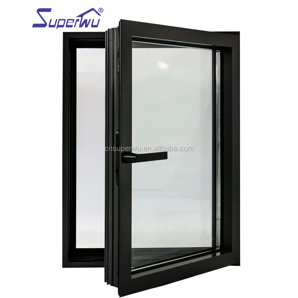 Aluminum double glazed casement window Soundproof Australia standard AS 2047