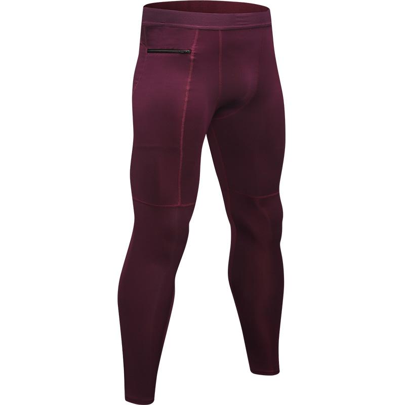 Men's Compression Baselayer Leggings Moisture-Wicking Pocket Active Tights 2