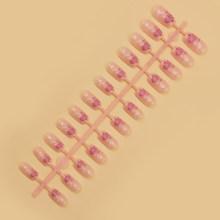 24 шт цветные накладные ногти простые и быстрые, подходят для профессионального салона или домашнего использования, полное покрытие ногтей(Китай)