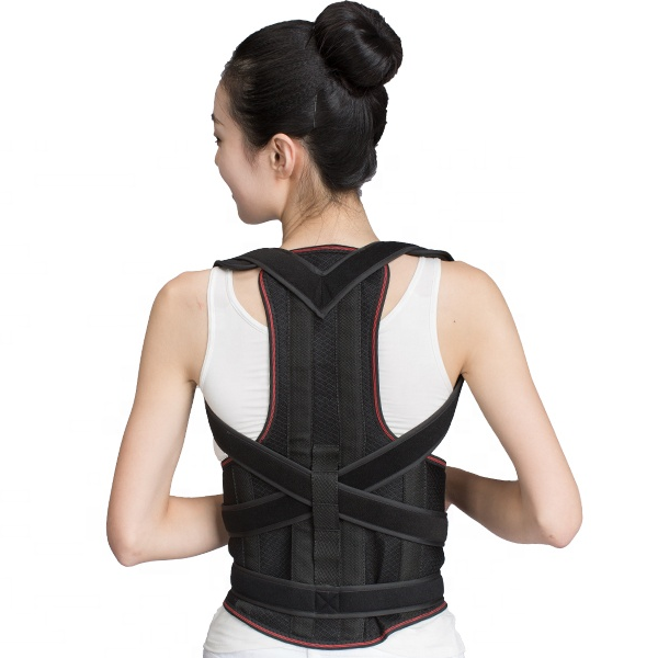 Back Support with 2 pcs Steel for Posture Corrector and Adjustable Double Pull shoulder back support belt for women amazon 2019