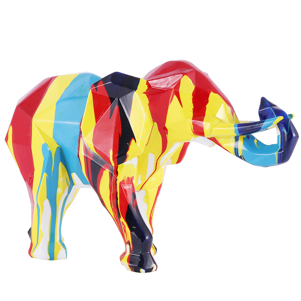 Custom Color Resin Elephant Sculpture Statues