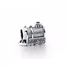 Fashion design treno fascino Reale 925 Sterling Silver Charm Bead Per La Collana Del Braccialetto