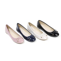 Cheap ladies beautiful shoes womens fashion flat shoes female comfortable ballerinas with paten pu flat shoes