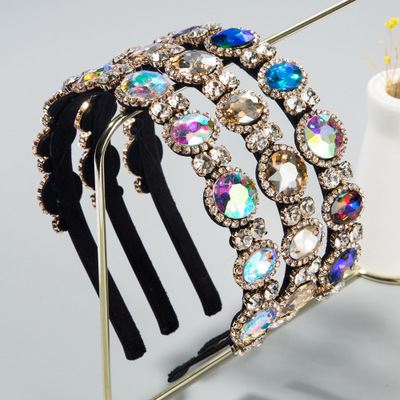 Artilady Fashion Diamond Crystal Rhinestone Hairband Baroque <strong>Headband</strong> For Women Girls Luxury Hair Accessories