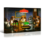 Decoration Painting Wall Art Decor Dogs Playing Poker Cards Canvas Prints Wall Art Funny Famous Painting Giclee Artwork Reprodu No Frame Home Decoration