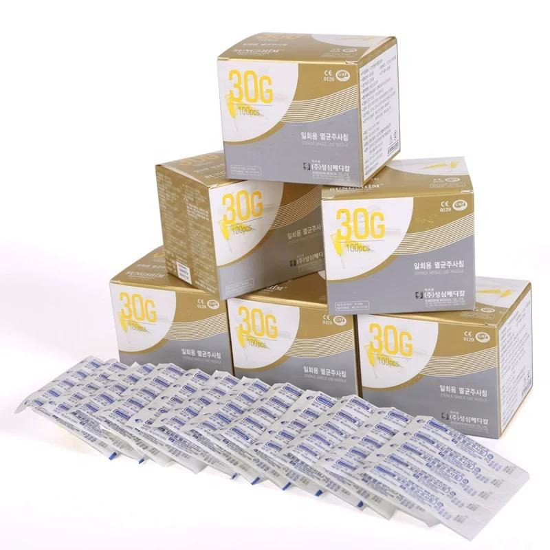 sterilized disposable hypodermic needle 30g 32g 34g 4mm