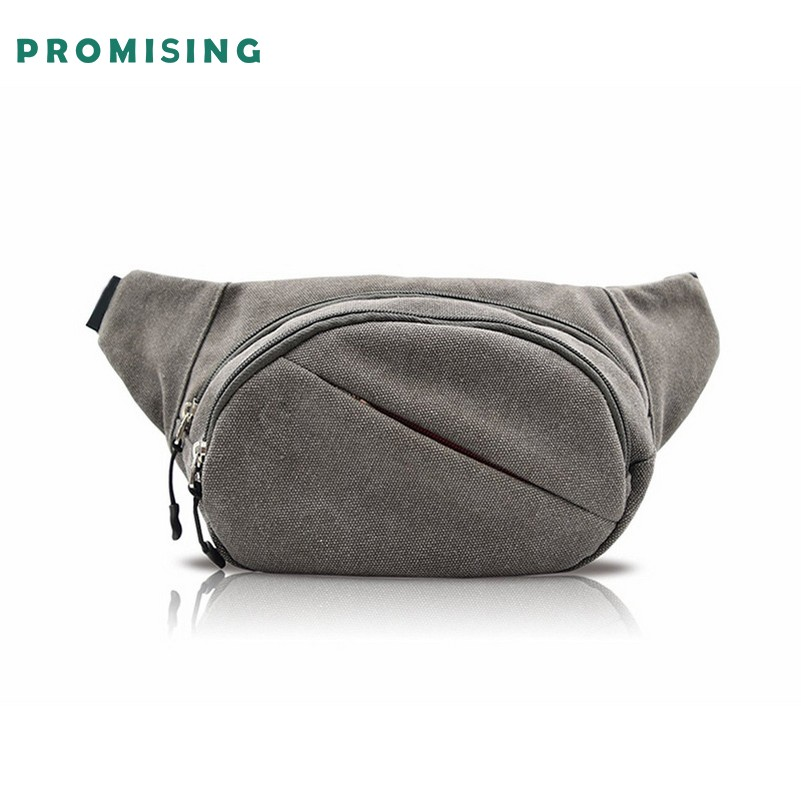 Promising Outdoor Sports Waterproof Dry Belt Canvas Chest Bag crossbody running belt bag