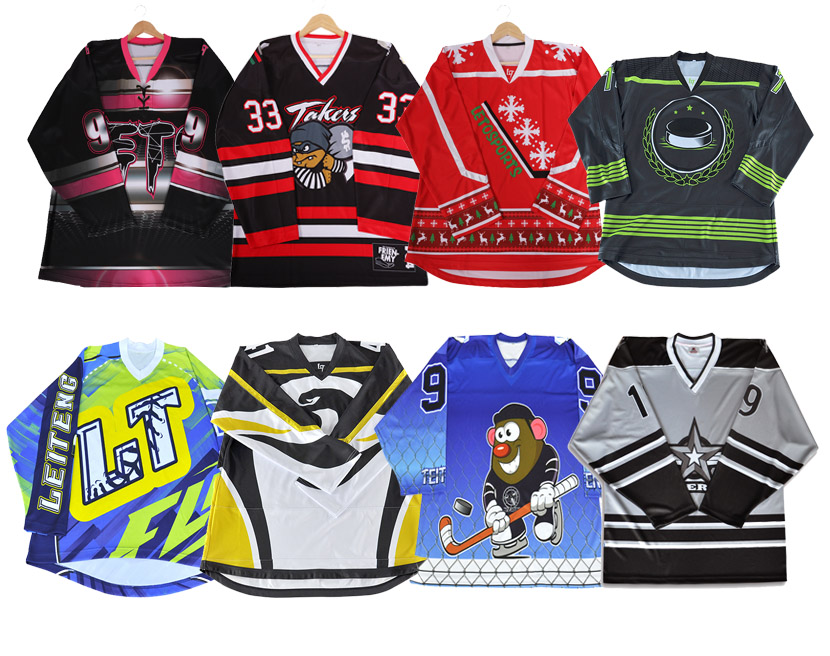 sublimation print high speed ice hockey apparel unique hockey jerseys