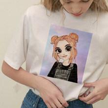 Винтажный Готический летний топ, мягкий наряд для девочки, эстетический стиль, футболка с графическим принтом Harajuku Vegan, модные футболки, жен...(Китай)