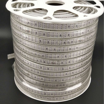 High quality 2835 AC220V 276leds/m blue color 100m/roll led strip light