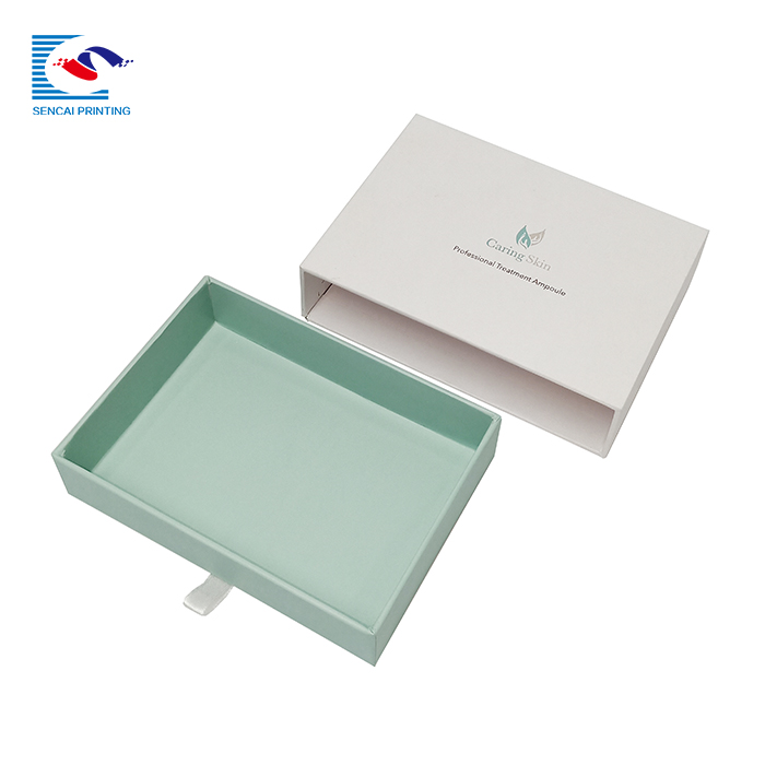 Wholesale custom design white cardboard cosmetic oil bottle drawer paper box