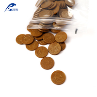 Wholesale educational toy euro coin ten cent 1000 pcs teaching values plastic coins set European money game
