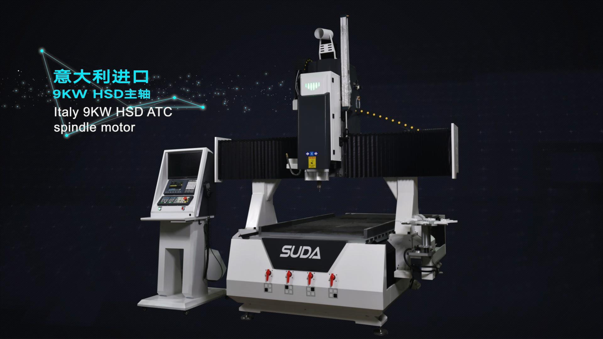 SUDA-máquina enrutadora CNC de 4 ejes 3D, máquina de tallado de madera, precio de maquinaria de carpintería