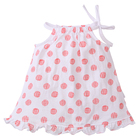 2020 factory direct hot sale baby girl clothes 100% cotton lovely AOP dot for baby girl dresses