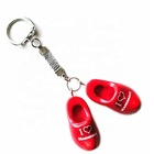 wood shoe keyring with heart i love Mammoet logo or custom design acceptable
