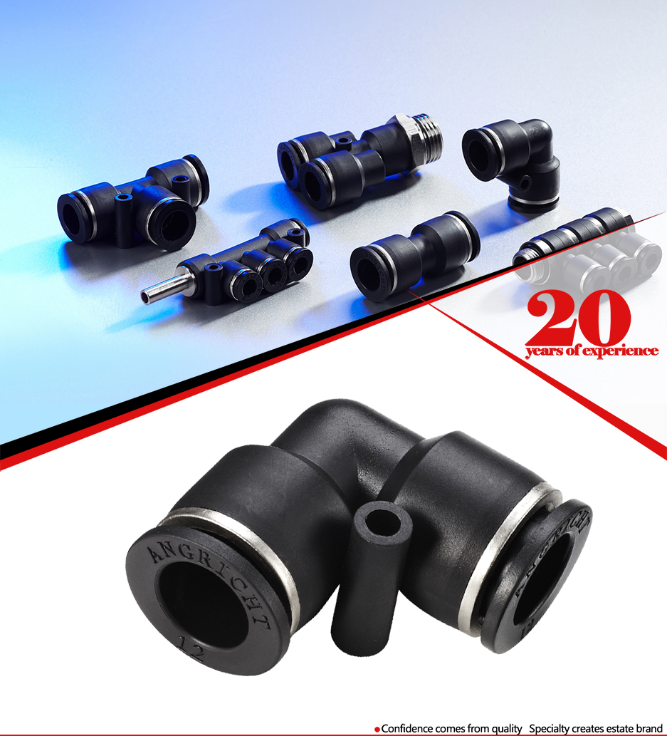 Push in Elbow Plastic Pneumatic Pipe Fitting