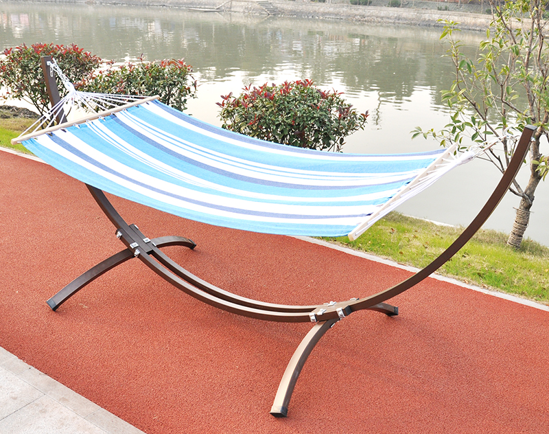 China Factory Supply Outdoor Cotton Fabric Single Person Hanging Camping Sleep Bed Patio Swing Hammock