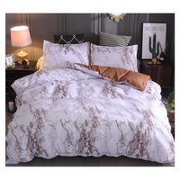 17 People Design Team Polyester Marble Brown And White Duvet Cover Sets Bedding For 5 Star Hotel