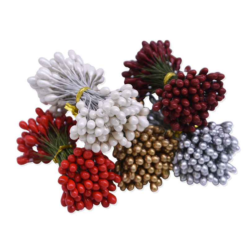 Hot Sale 5mm Double Head Stamens Artificial Flower Stamen for DIY