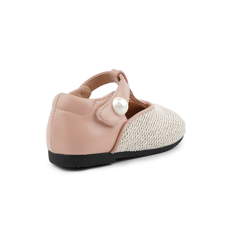 Baby classics holiday girls leather shoes kids hook&loop leather dress shoes