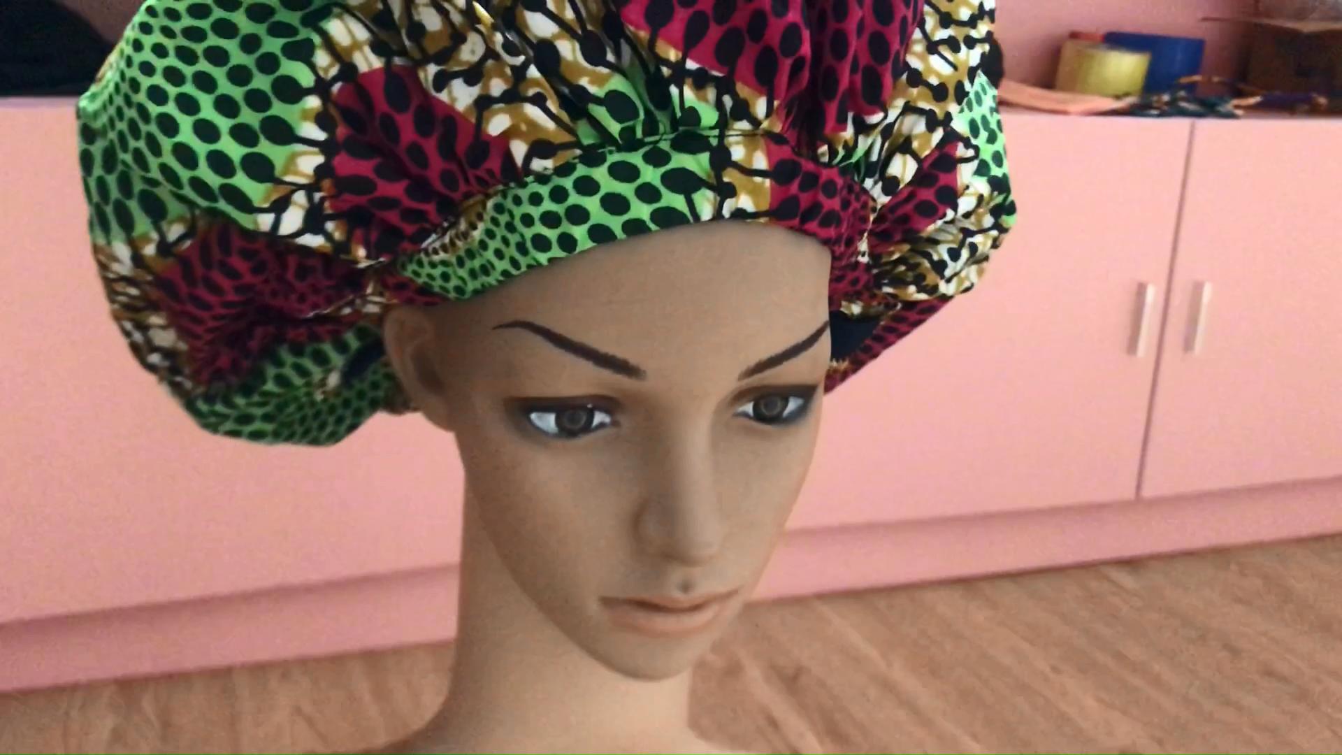 การออกแบบล่าสุดแอฟริกันอังการาพิมพ์Bonnetผ้าฝ้าย 100% Bonnetกับซับซาตินรอบ 15.5*15.5 นิ้วBonnet 2020