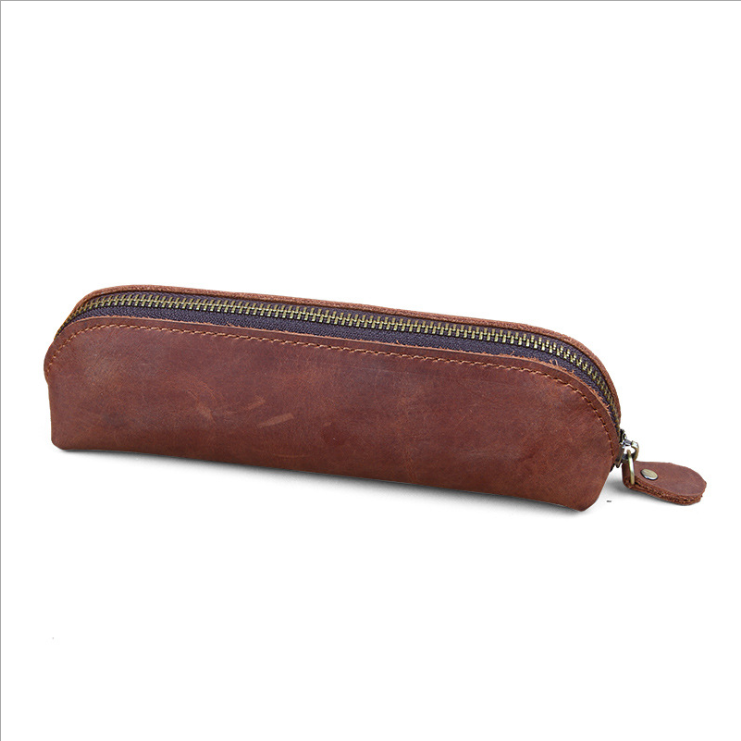 Crazy Horse <strong>Leather</strong> glass case Pencil Case