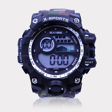 Sanse S-640B Fashion Olahraga <span class=keywords><strong>Digital</strong></span> Watch Ewtto Tahan Air Jam Tangan Pria Militer Jam Tangan