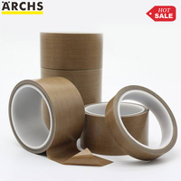 high temperature heat resistant wholesale Skived 3m Tesa Nitto etched single side silicone PTFE fiber glass cloth adhesive tape