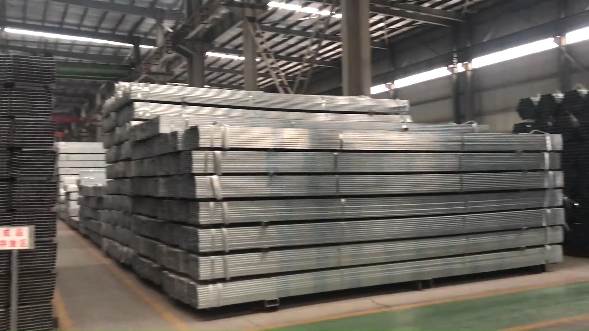 Prime quality pre galvanized square steel pipe / chs carbon welded tube / gi square pipe price list
